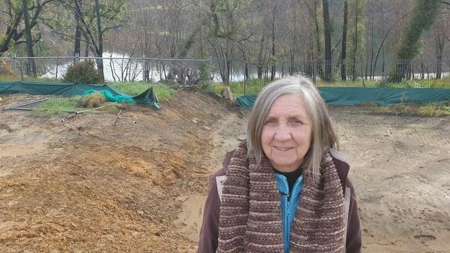 Will wieder am alten Ort bauen: Elaine Caswell zeigt sich kämpferisch.