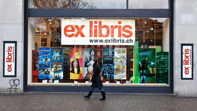 Buchladen mit Aufschrift Ex Libris