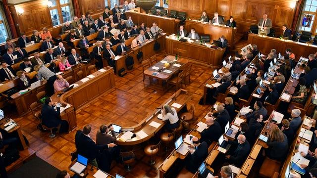 Der Zürcher Kantonsrat während einer Sitzung