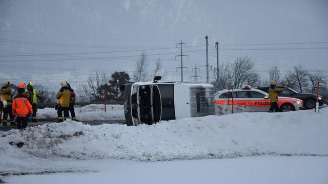 La polizia al lieu dal accident a Landquart.