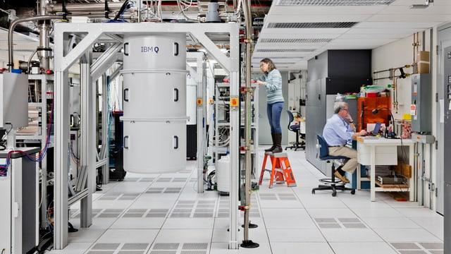 Ein Quantencomputer in den Forschungsräumen von IBM