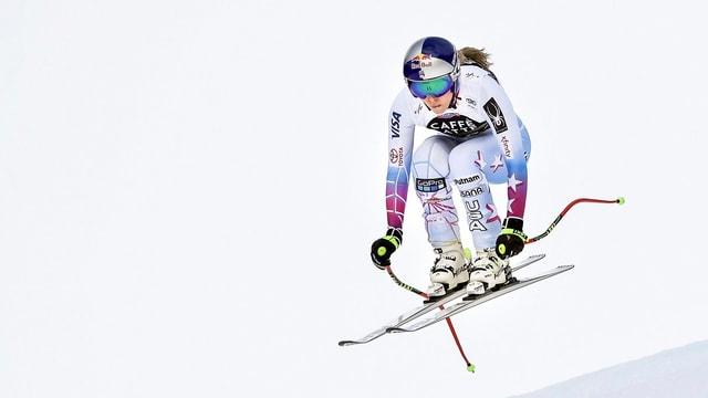 Lindsey Vonn sin skis