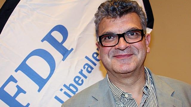 Der neue Kopf an der Spitze der Bündner FDP, Bruno Claus.