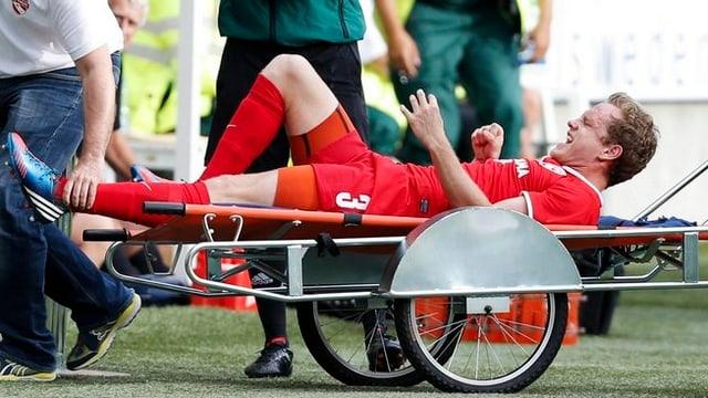 Schenkel verletzte sich im EL-Hinspiel in Göteborg.