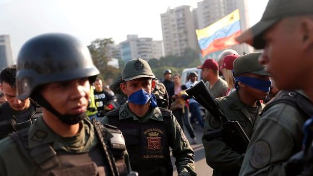 Soldaten in Caracas