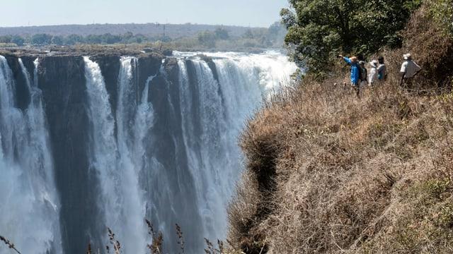 Die Victoriafälle in Simbabwe.