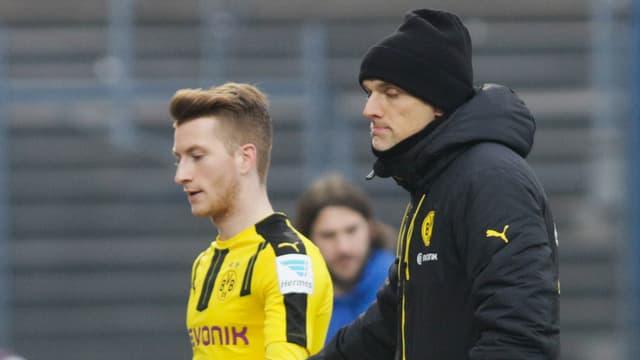 Marco Reus und Coach Thomas Tuchel.
