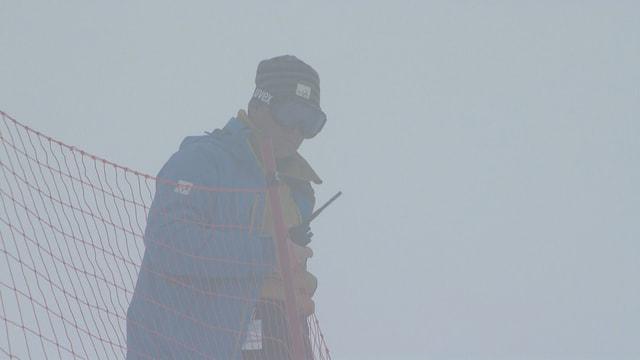 Dichter Nebel auf der Strecke.