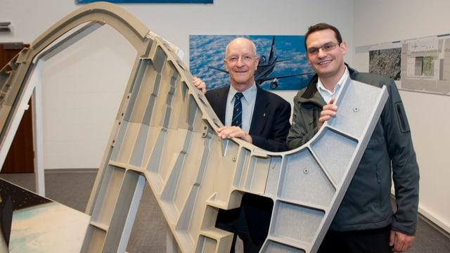Der Schweizer Astronaut mit Pascal Jaussi, Gründer und CEO von Swiss Space Systems,