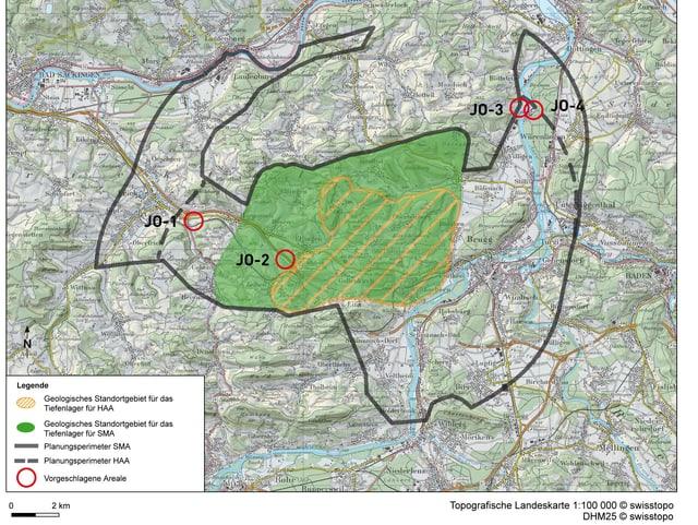 Gebiet Jura Ost (Kanton Aargau).