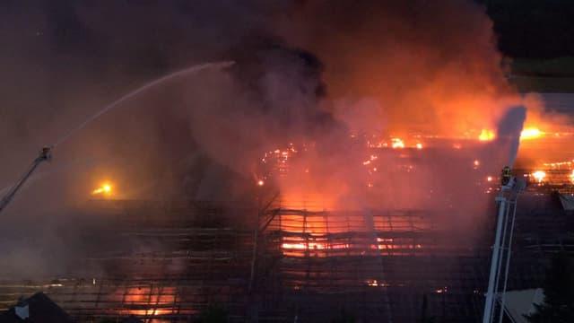 Brand bei Gärtnerei Züberwangen