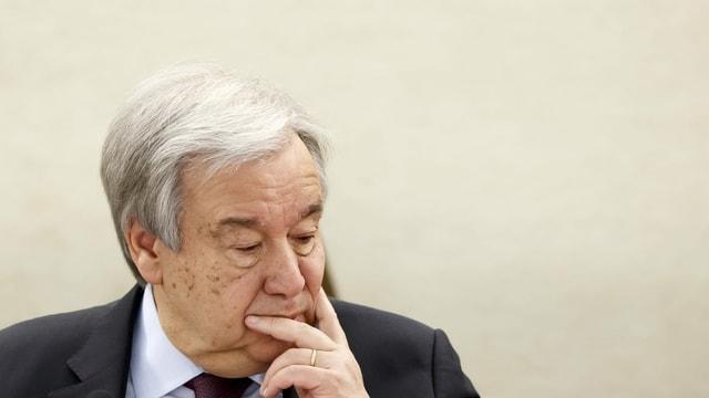 UNO-Generalsekretär António Guterres in nachdenklicher Mine.