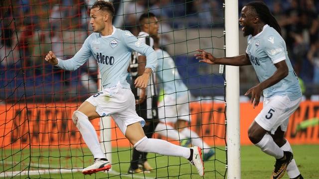 Alessandro Murgia bejubelt seinen Siegtreffer.