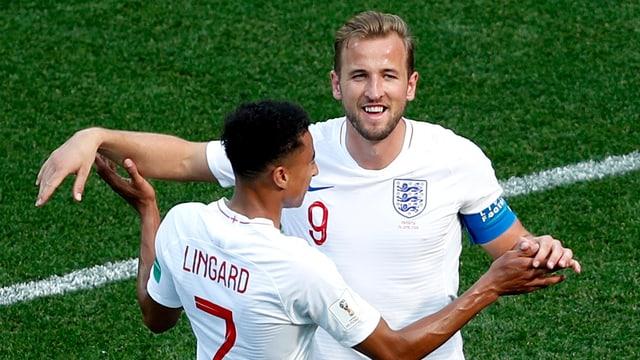 Kane e Lingard festiveschan lur gols.