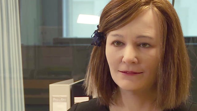 Video «Nadia und Nadine: Eine Schweizerin und ihr Roboter-Ebenbild» abspielen