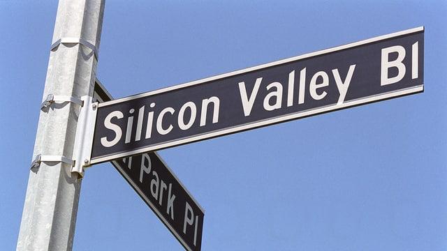 Strassenschild in Kalifornien: «Silicon Valley Boulevard»