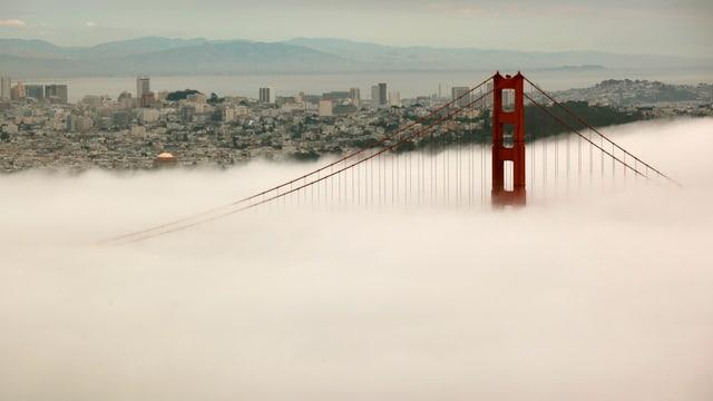 Golden Gate Bridge in den Wolken