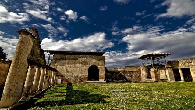 Sicht auf Pompeji.