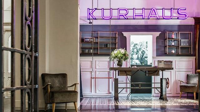 Enrada dal hotel Kurhaus a Lai.