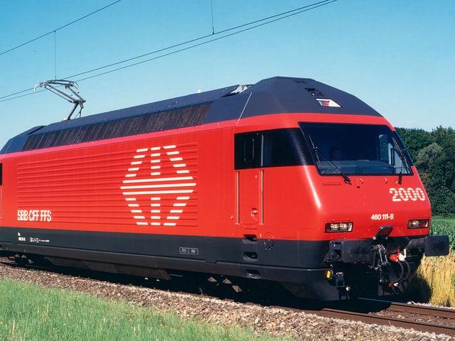 rote SBB-Lokomotive