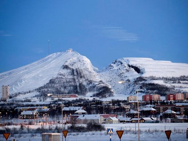 Die Sprengungen in den unterirdischen Minen erschüttern regelmässig die Stadt Kiruna.