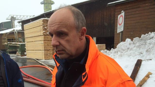 Der Geschäftsführer Ernest Schilliger zeigte sich schockiert über den Brand.