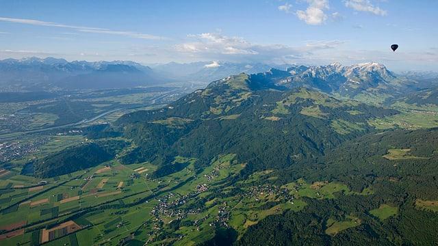 Ostschweiz von Heissluftballon aus