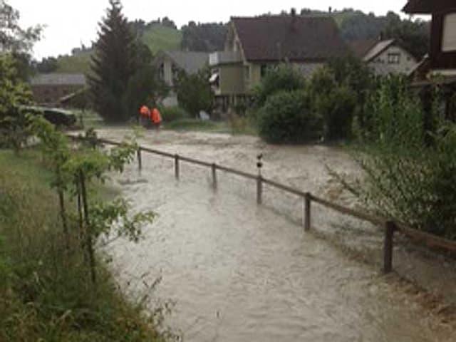 Hochwasser in Gais (AR)
