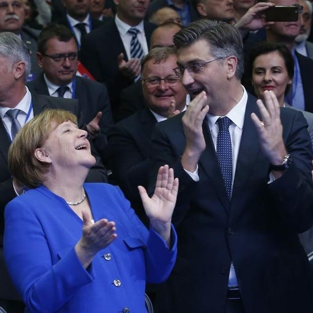 Merkel und Plenkovic