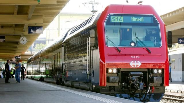 S-Bahn-Zug in Haltestelle