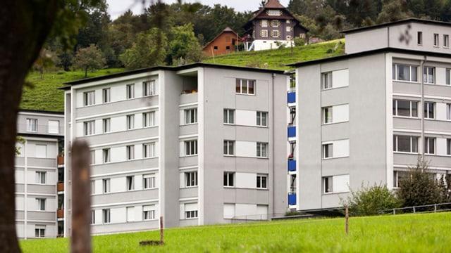 Blick auf eine Wohnsiedlung