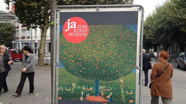 Abstimmungsplakat in der Stadt Solothurn zum neuen Kulturgüterschutzraum