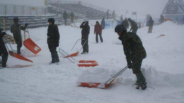 Militär im Einsatz bei den Männer-Rennen im Februar 2014.