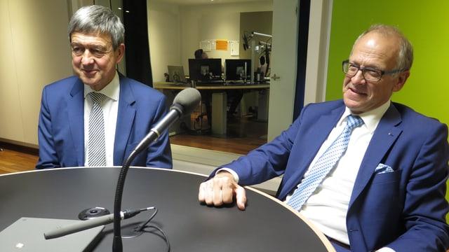 Willi Haag und Martin Gehrer im Studio