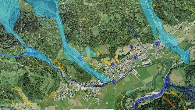 plan d'ina via forestala, survista geografica