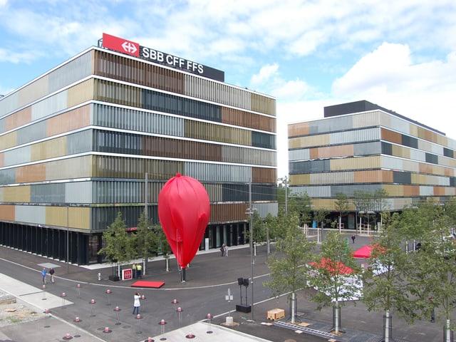 Aussenansicht des neuen SBB-Hauptsitzes.