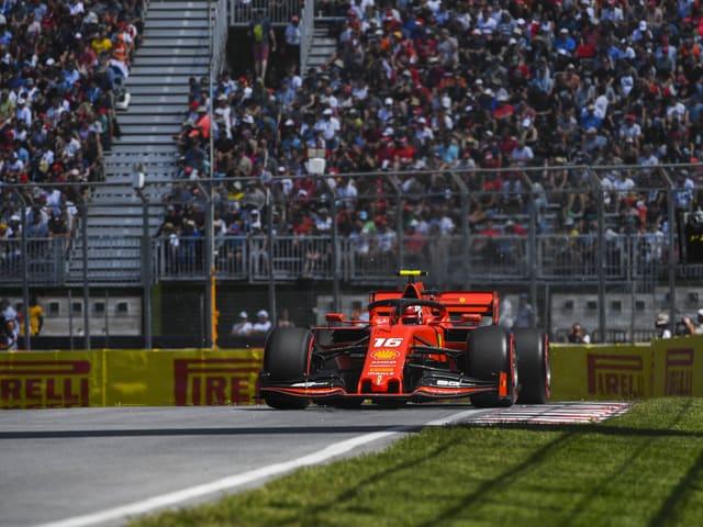Charles Leclerc im Ferrari.
