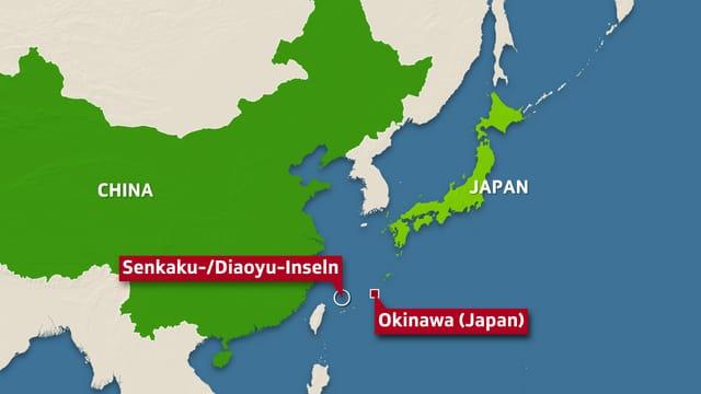 Die Inseln liegen 200 Kilometer nordöstlich von Taiwan.