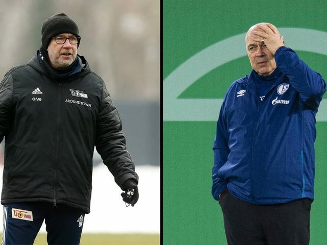 Urs Fischer (mit Union Berlin) trifft auf Christian Gross (mit Schalke 04).