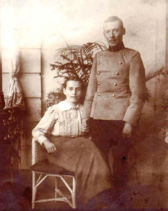 Mathilde Lejeune-Jehle und ihr Mann.