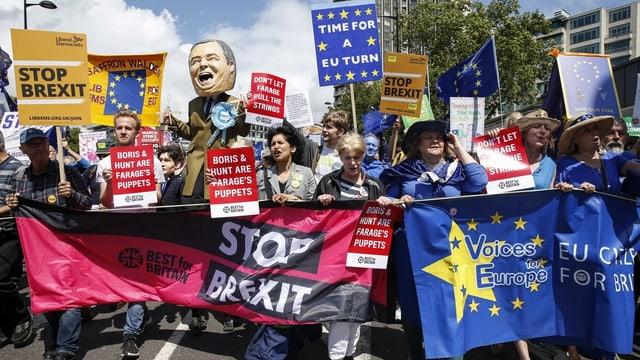Demonstranten gegen den Brexit