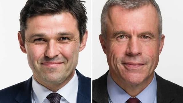 Für beiden Nationalräte Matthias Aebischer (links) und Lorenz Hess (rechts)