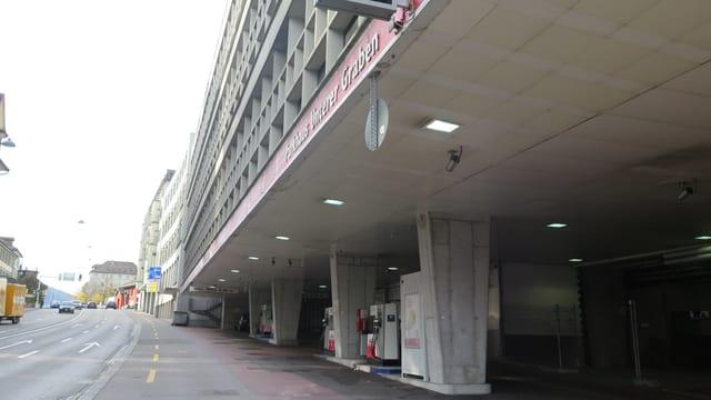 Parkgarage UG 24 von aussen