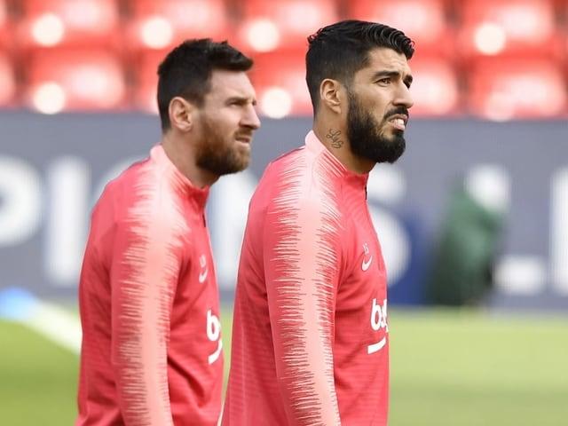 Lionel Messi und Luis Suarez.