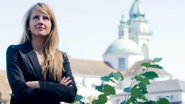 Porträt von Seraina Rohrer, Direktorin der Solothurner Filmtage, in Solothurn.