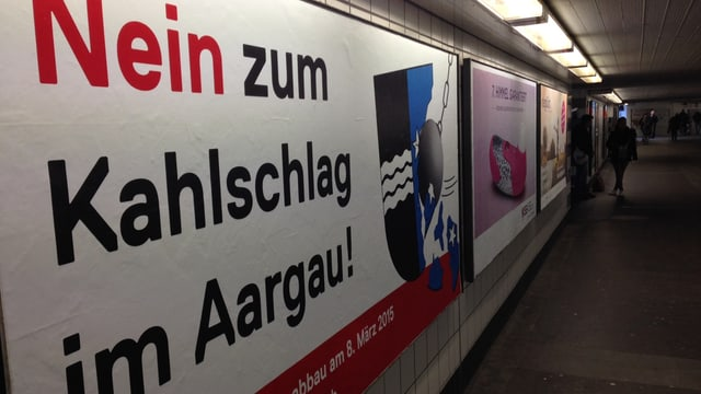 Plakat zur Abstimmung