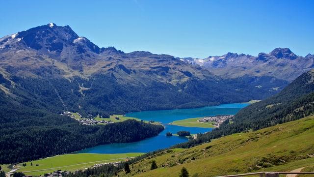 Blick von der Trutzhütte auf die Oberengadiner Seen
