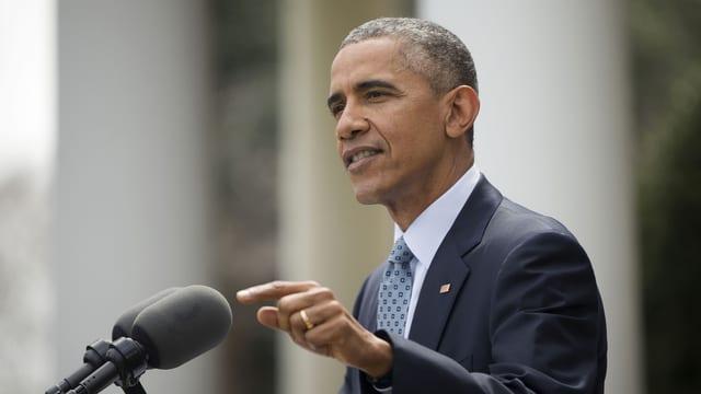 US-Präsident Barack Obama bei einer Rede