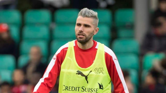Valon Behrami während eines Trainings.