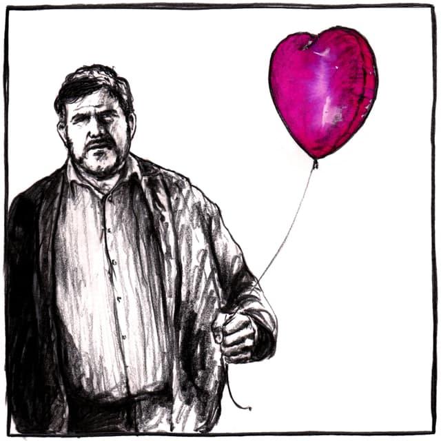 Illustraziun um cun ballun en furma da cor.